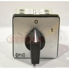 INTERRUPTOR TELERGON BHIPLAT B-202 V16  0-1 25A 3P 48x48mm