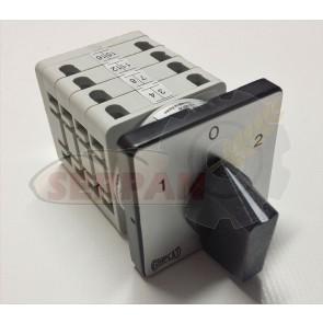 Conmutador 1-0-2 Dahlander 32A V25 48x48mm